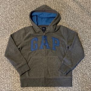 Fleece Hooded Zip Up Sweatshirt - GAP